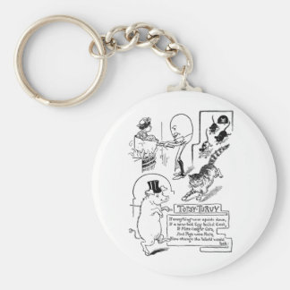 Egg Man Cooking Woman in Pot Basic Round Button Keychain
