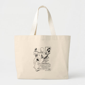 Egg Man Cooking Woman in Pot Large Tote Bag