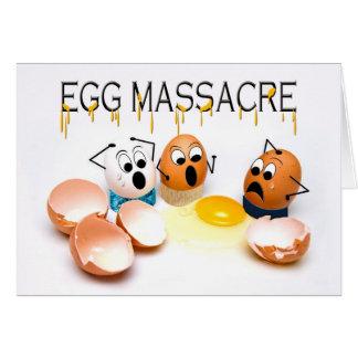 Egg Massacre Humor Blank Card - Cracked Eggs