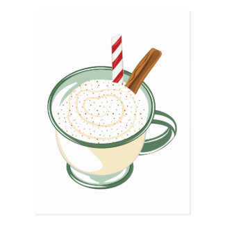 Egg Nog Postcard