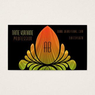 egg of flower form business card