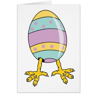 Egg On Legs Card