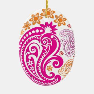 Egg Ornament - Pastel Paisleys 2B