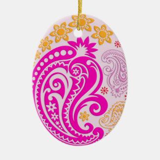 Egg Ornament - Pastel Paisleys 4B