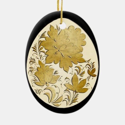 Egg Ornament - Russian Folk Art 15 - BB