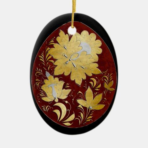 Egg Ornament - Russian Folk Art 34 - BB