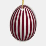 Egg Ornament - Stripe Pattern - 2