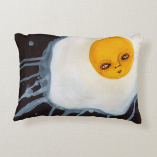 Egg Outsider Acryic Art Abstract Fantasy Cute Accent Pillow