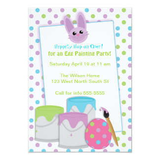 """Egg Painting Party 5"""" X 7"""" Invitation Card"""