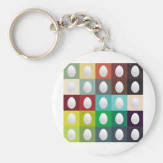 Egg Palette Key Chain