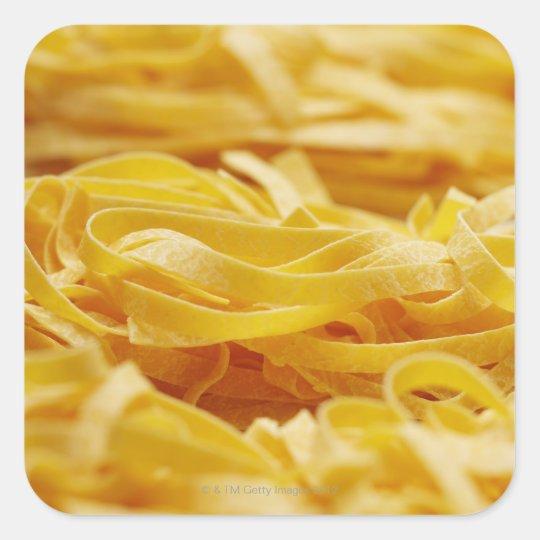 Egg Pasta, Pasta, Tagliatelle, Italian, Raw, Square Sticker