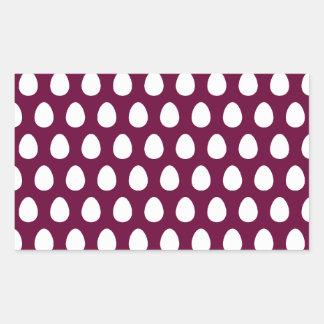 Egg Pattern Rectangular Sticker