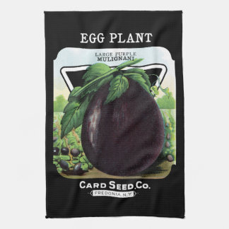 Egg Plant Seed Packet Label Hand Towel