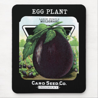 Egg Plant Seed Packet Label Mouse Pad