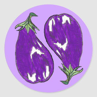 Egg Plant Stickers