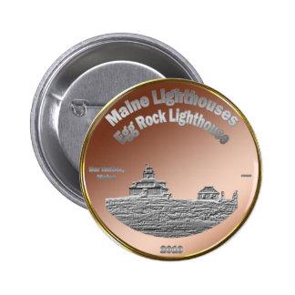 Egg Rock Lighthouse Coin/Token Pinback Button