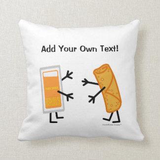 Egg Roll & Duck Sauce (Customizable) Throw Pillow
