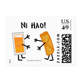 Egg Roll & Duck Sauce - Ni Hao! Stamp