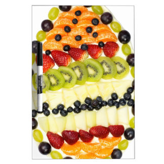 Egg shaped fruit pie with various fruits Dry-Erase board
