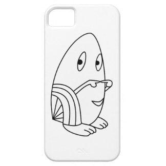 Egg-shaped kawaii cute character cases