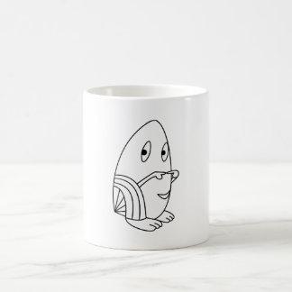 Egg-shaped kawaii cute character mugs