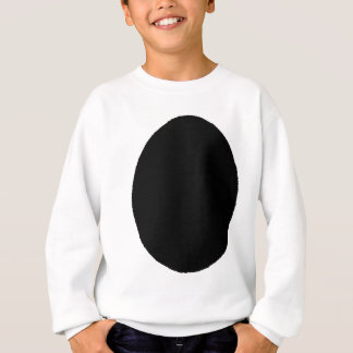 Egg Solid Black The MUSEUM Zazzle Gifts Sweatshirt