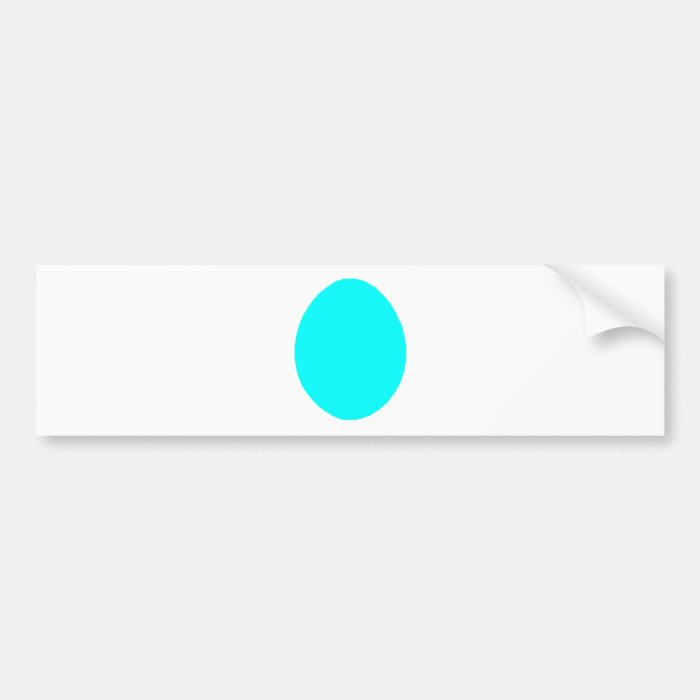 Egg Solid Cyan The MUSEUM Zazzle Gifts Bumper Sticker