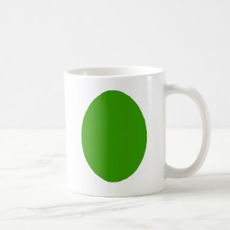 Egg Solid Green Dark The MUSEUM Zazzle Gifts Coffee Mug