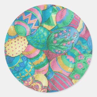 Egg-stavaganza Classic Round Sticker