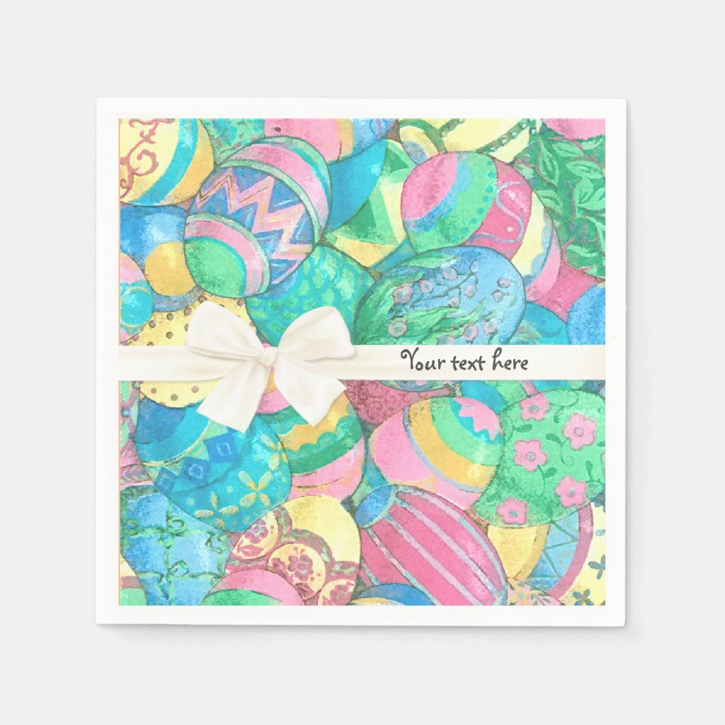 Egg-stavaganza Pastel Easter Eggs Paper Napkin