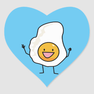Egg Sunny-Side Up Happy Eggs Breakfast Heart Sticker