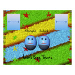 Egg Twins Two Boys Poster