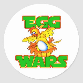 Egg Wars Classic Round Sticker