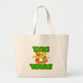 Egg Wars Large Tote Bag