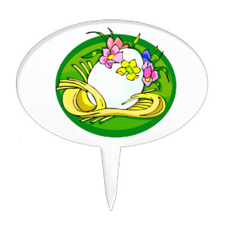 egg with flower tiara green oval.png cake topper