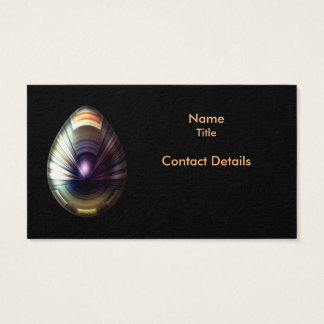 Egg with Pearlescent Cloak Business Card