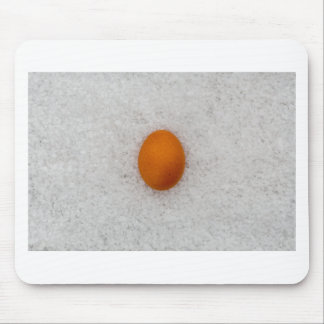 Egg with salt mouse pad