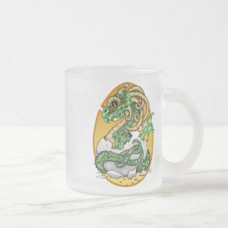 Eggbert the Dragon Frosted Glass Coffee Mug