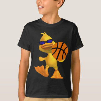 Eggbert The Duck Kids Cool Basketball T-Shirt