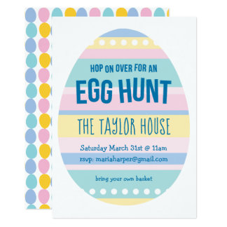 Eggcellent Easter Egg Hunt Invite