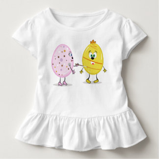 Eggcellent Painter Toddler Ruffle Tee