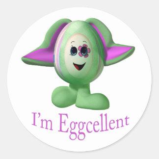eggcellent pegatina redonda