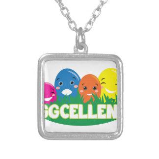 Eggcellent Square Pendant Necklace