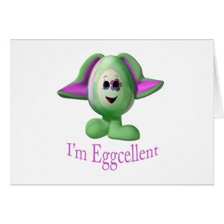 eggcellent tarjeta de felicitación
