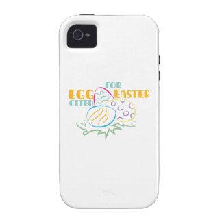 Eggcited Pascua iPhone 4/4S Carcasa