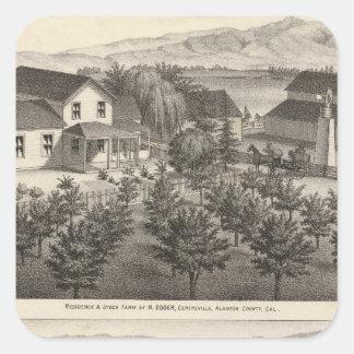 Egger, residencias de Haines, granjas Pegatina Cuadrada