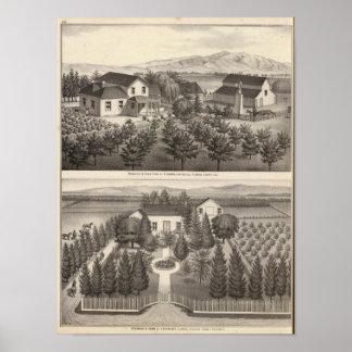 Egger, residencias de Haines, granjas Póster