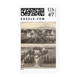 Egger, residencias de Haines, granjas Sellos Postales