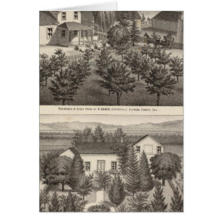 Egger, residencias de Haines, granjas Tarjeta De Felicitación