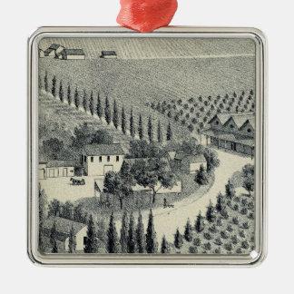 Eggers Vineyard, Fresno Metal Ornament